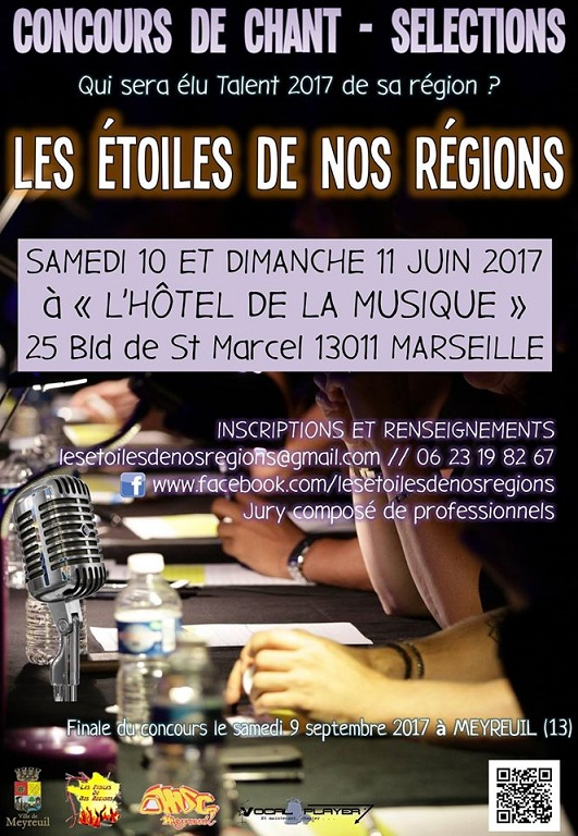 concours de chant les toiles de nos r gions 2017 ecole de musique la joliette marseille. Black Bedroom Furniture Sets. Home Design Ideas
